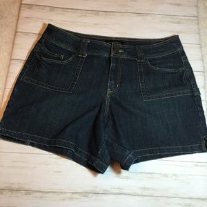 Lane Bryant Dark Wash Denim Jean Shorts 16
